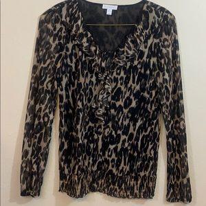 Leopard print top, Sz M